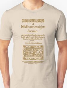 Shakespeare, A midsummer night's dream 1600 T-Shirt