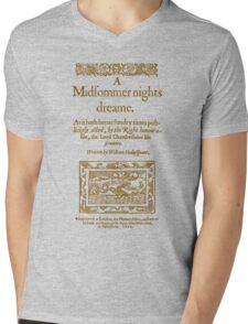 Shakespeare, A midsummer night's dream 1600 Mens V-Neck T-Shirt