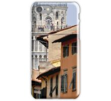 Pisa's Leaning Tower through the Streets iPhone Case/Skin