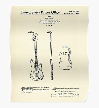 Bass Guitar-1960 Poster