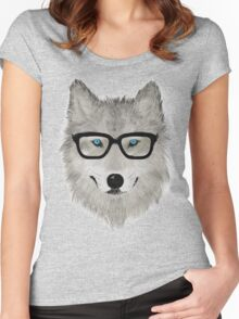 Wild Animal with Glasses - V02 Women's Fitted Scoop T-Shirt