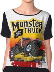 Cartoon Monster Truck Chiffon Top