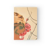 Portrait of man in spring Hardcover Journal