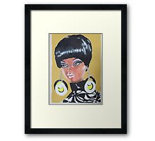 Black Barbie Framed Print