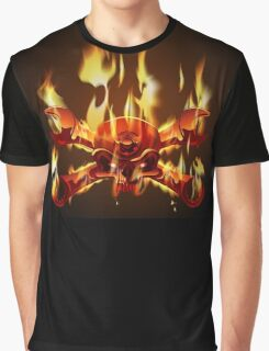Metal Jolly Roger in flame Graphic T-Shirt