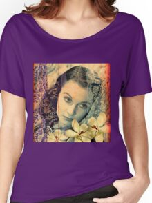 Scarlett Leigh with Magnolias from Tara Women's Relaxed Fit T-Shirt