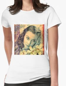 Scarlett Leigh with Magnolias from Tara Womens Fitted T-Shirt