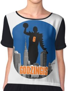 Godzingis- Blue Chiffon Top