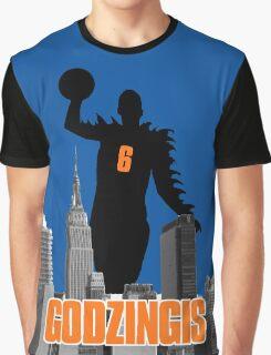 Godzingis- Blue Graphic T-Shirt