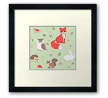 Animals of the Forest Framed Print