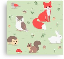 Animals of the Forest Canvas Print