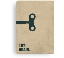 Try Again - Corporate Start-up Quotes Canvas Print