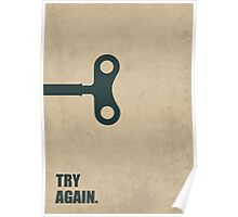 Try Again Corporate Start-up Quotes Poster