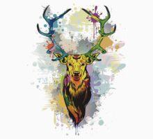 Deer PopArt Dripping Paint One Piece - Long Sleeve