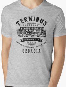 Terminus Sanctuary Community (dark) Mens V-Neck T-Shirt