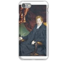 WILLIAM JOHN NEWTON, PORTRAIT OF A SEATED MAN ON A CHAIR IN GREEN INTERIOR WITH RED CURTAIN, CIRCA  iPhone Case/Skin