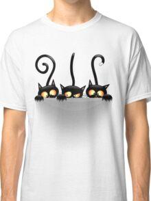 Three Naughty Playful Kitties Classic T-Shirt