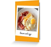 "Polaroid ""bacon and eggs"" Greeting Card"