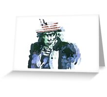 Uncle Sam with Changable background color Greeting Card