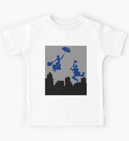 Bright Blue in the nightsky Mary Poppins  Kids Tee