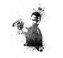 Rick Grimes Walking Dead Black & White Photographic Print