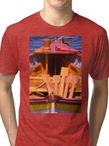 On A Whaleboat Tri-blend T-Shirt
