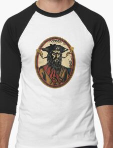Black Beard Men's Baseball ¾ T-Shirt
