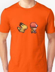 Red and Pikachu 16 bit Unisex T-Shirt