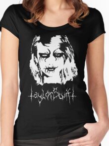 Black Metal Taylor Swift Women's Fitted Scoop T-Shirt