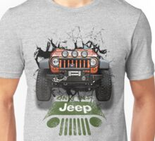 Jeep Breaking Wall 3D Art Unisex T-Shirt