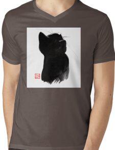 cat up Mens V-Neck T-Shirt