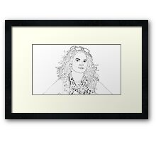 tina fey drawing Framed Print