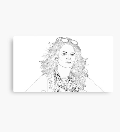 tina fey drawing Canvas Print