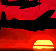 BBMF Vic Sunset Silhouette Montage Sticker