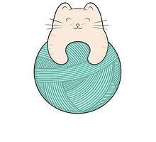 knit cat Photographic Print