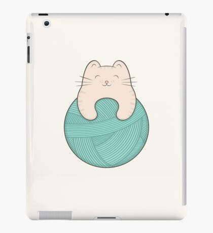 knit cat iPad Case/Skin