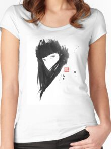 chinese  girl Women's Fitted Scoop T-Shirt