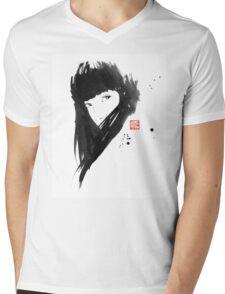 chinese  girl Mens V-Neck T-Shirt