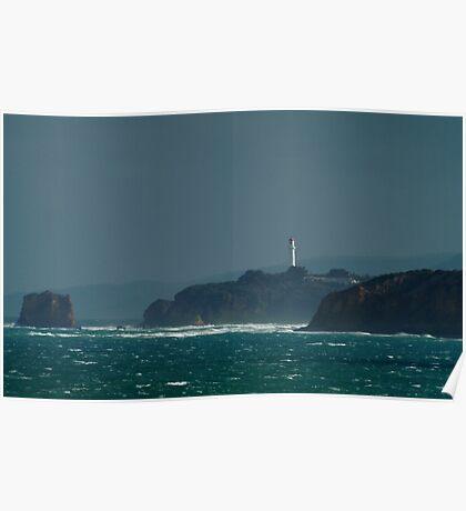 Bleak Weather, Aireys Inlet, Split Point. Poster