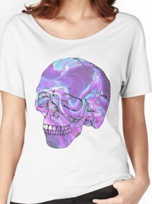 holographic skull Women's Relaxed Fit T-Shirt