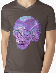 holographic skull Mens V-Neck T-Shirt
