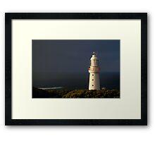 Sunrise Rain, Light Station Cape Otway on Bass Strait Framed Print