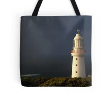 Sunrise Rain, Light Station Cape Otway on Bass Strait Tote Bag