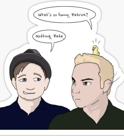 Patrick and Pete - Uma Thurman  Sticker