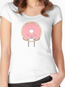 donut loves coffee Women's Fitted Scoop T-Shirt