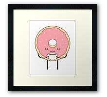 donut loves coffee Framed Print