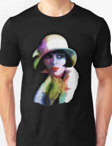 Girl's Twenties Vintage Glamour Art Portrait Unisex T-Shirt