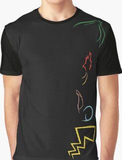 Starter Pokemon - Dark Theme Graphic T-Shirt