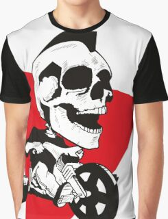Skeleton on Tricycle Graphic T-Shirt