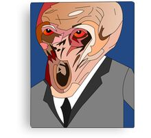the silence doctor who Canvas Print